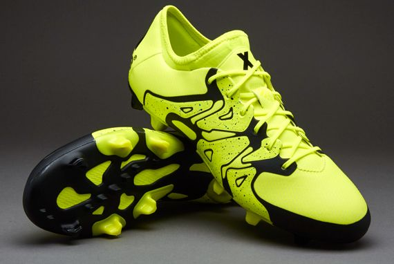 adidas X 15 1 FG AG  Soccer Cleats  Firm Ground  Solar Yellow Solar  Yellow Core Black
