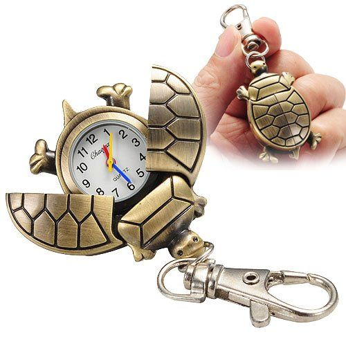 Cool Fashion Cute Turtle Keychain Pocket Chain Clip Watch for Women Men  Children – Patek Phillippe 79fcd5ce50