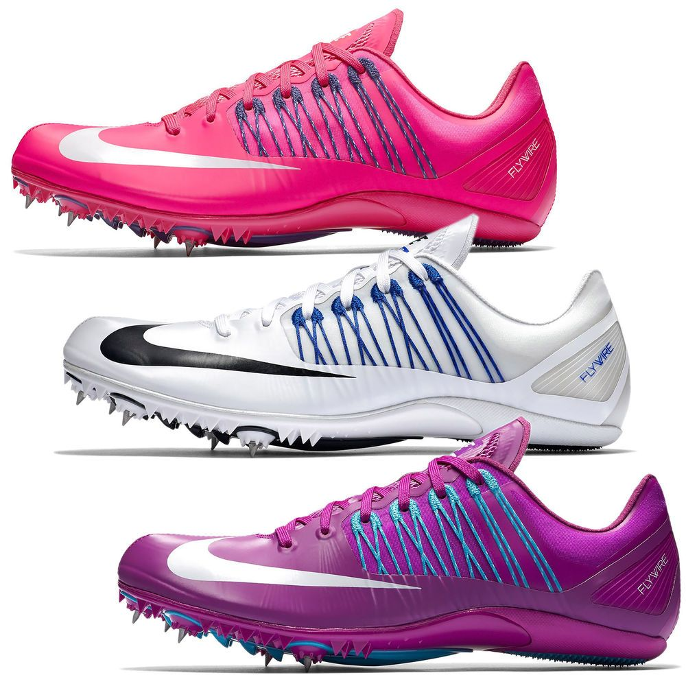 big sale 99cbd f493e New Nike Zoom Celar 5 V Track  Field Spikes Sprint Shoes, Pink White  Purple Nike Cleats