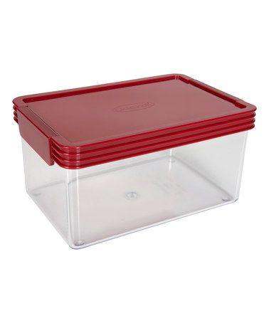 Another great find on #zulily! 2-Quart Kitchen Essentials Airtight Red Lid Container #zulilyfinds