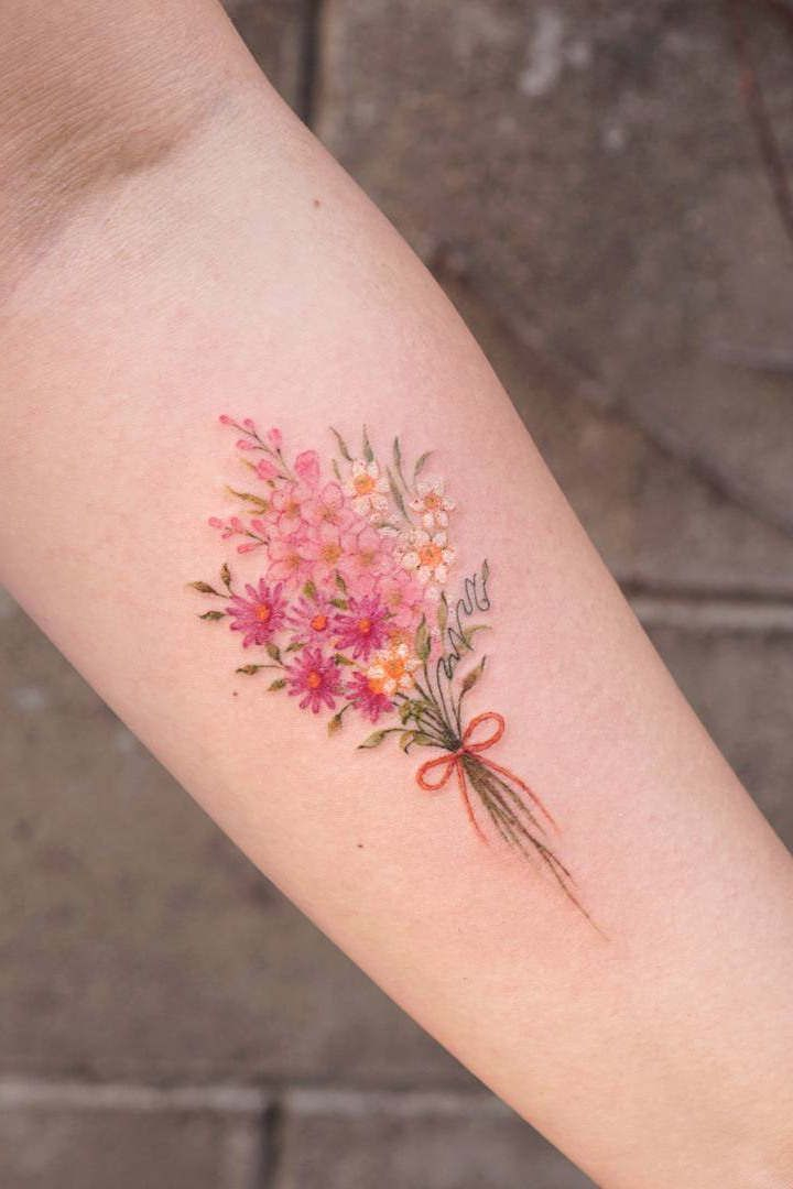 60+ Stunning Flower Tattoos For Girls and Women