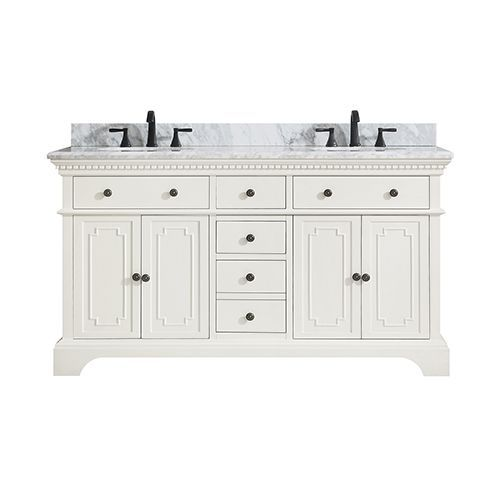 Azzuri Hastings Vs60 Fw C Hastings 61 In Double Sink Vanity W