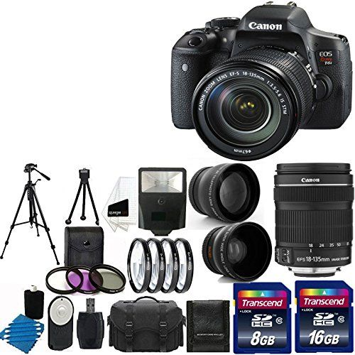 Canon EOS Rebel T6i 24.2MP Digital SLR Camera USA warranty With Canon EF-S 18-135mm f/3.5-5.6 IS STM…