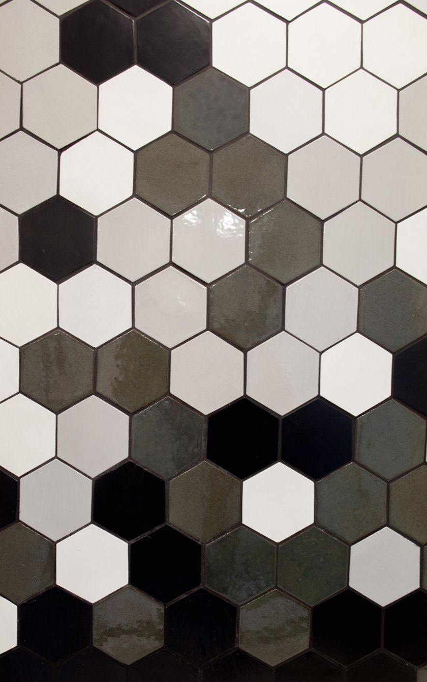 White Tile Black Tiles