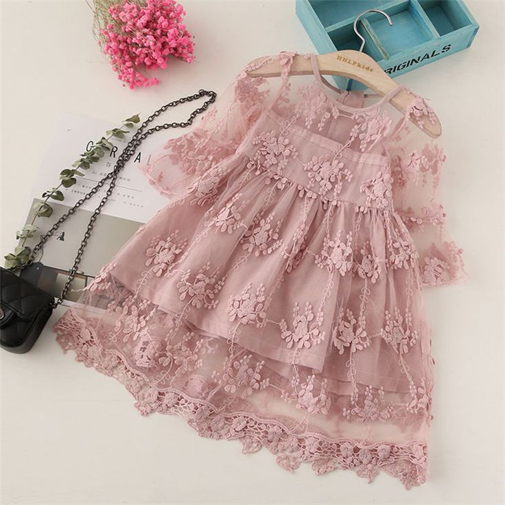 Details about Kids Baby Girls lothes Princess Dress Toddler Party Pageant Wedding Gown Dresses