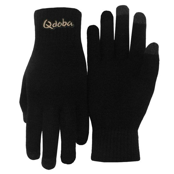 Embroidered Three Finger Text Gloves