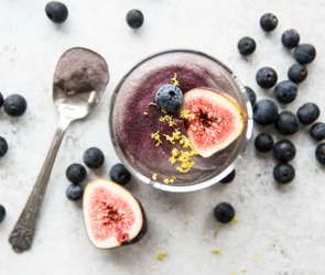 •| Vegan+Blueberry+Mousse |•