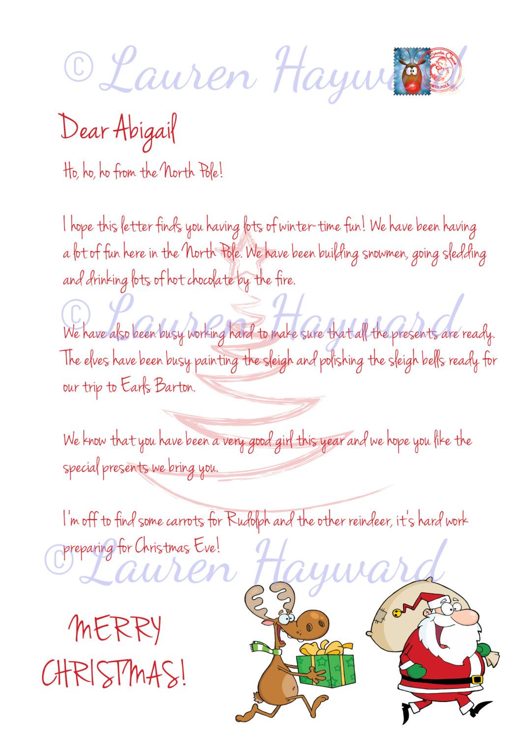 New to serendipitycreate on etsy personalised letter from father new to serendipitycreate on etsy personalised letter from father christmas digital download version 300 gbp spiritdancerdesigns Images