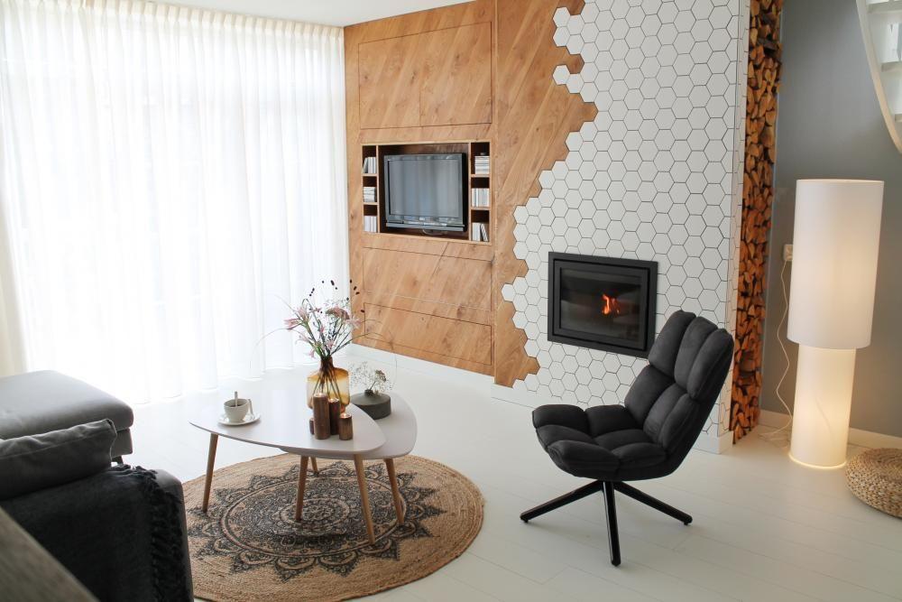 Warme witte woonkamer - RTL Eigen Huis en Tuin #gordijnen #curtains ...
