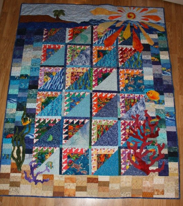 Cool quilt from Speaking of Words and Quilts blog