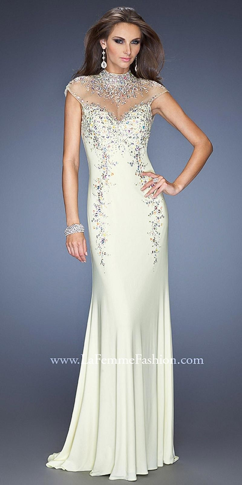 Royalty Inspired High Neck Prom Dresses by Gigi from La Femme ...