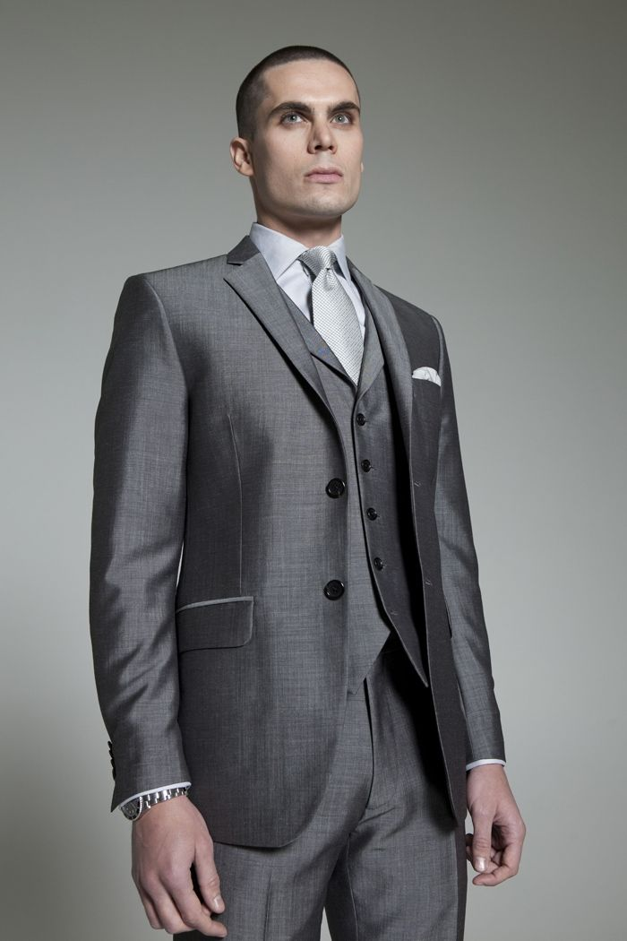 Grey Escorial Three Piece Suit, feeling this if it had 3 buttons ...