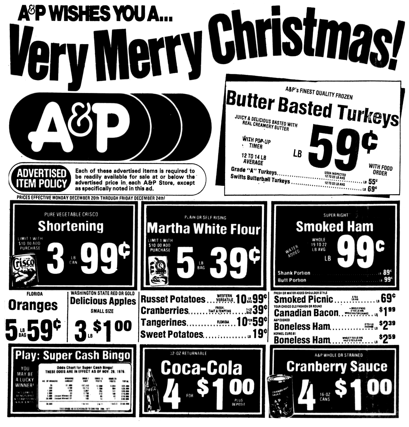 Image result for A&P christmas newspaper