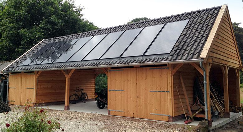 Clearline Pv30 Roof Integrated Solar Panels Sitting Inline