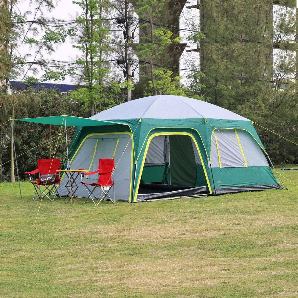 022804402e6 2016 Challenger New 2 bedroom 1 living room 6-12 person hiking beach  fishing outdoor camping travel family tent. Yesterday s price  US  317.52  (278.15 EUR).
