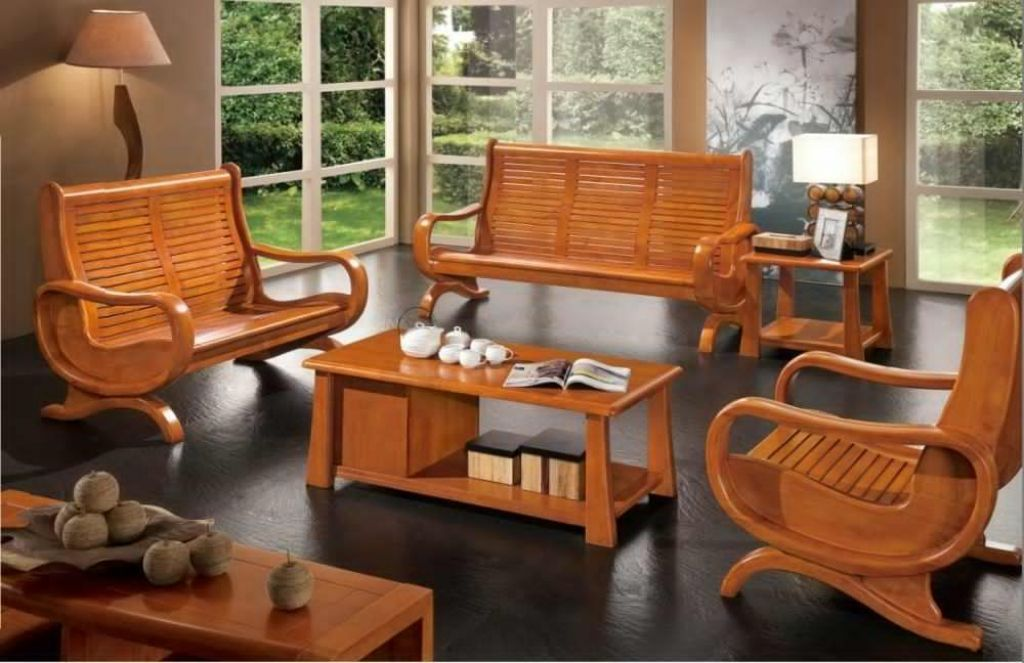 Popular Wood Sofa Furniture Wooden Living Room Furniture Modern Living Room Furniture Sets Wooden Living Room