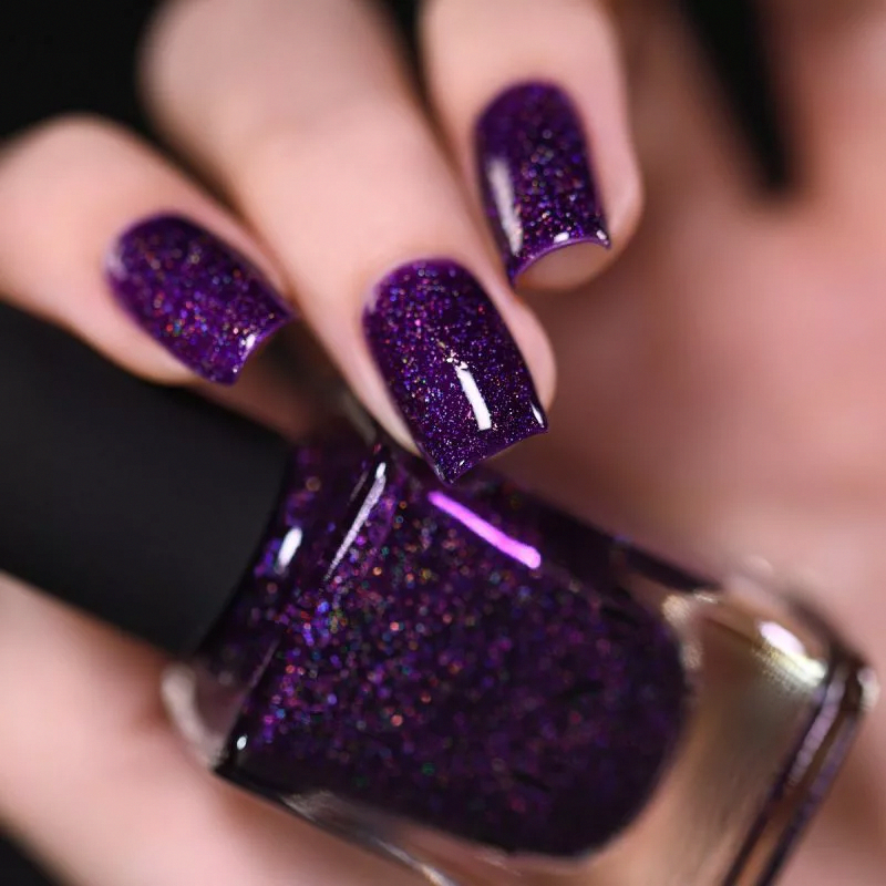 Vanity - Deep Purple Holographic Nail Polish by ILNP
