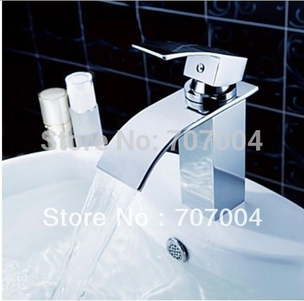 98.98$  Buy here - http://aliv3m.shopchina.info/go.php?t=32363361257 - Free Shipping Wholesale Retail Deck Mount Waterfall Bathroom Faucet Vanity Vessel Sinks Mixer Tap Cold And Hot Water Tap KF30 98.98$ #shopstyle
