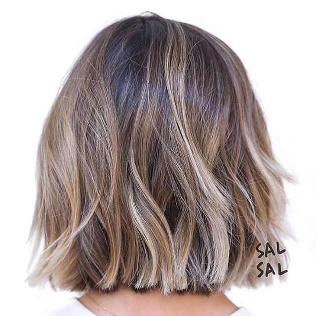 Blunt Neck Length Bob Hair Styles Short Hair Balayage Short Ombre Hair