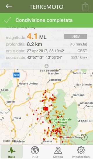 44 minuti fa si è verificata una scossa sismica di