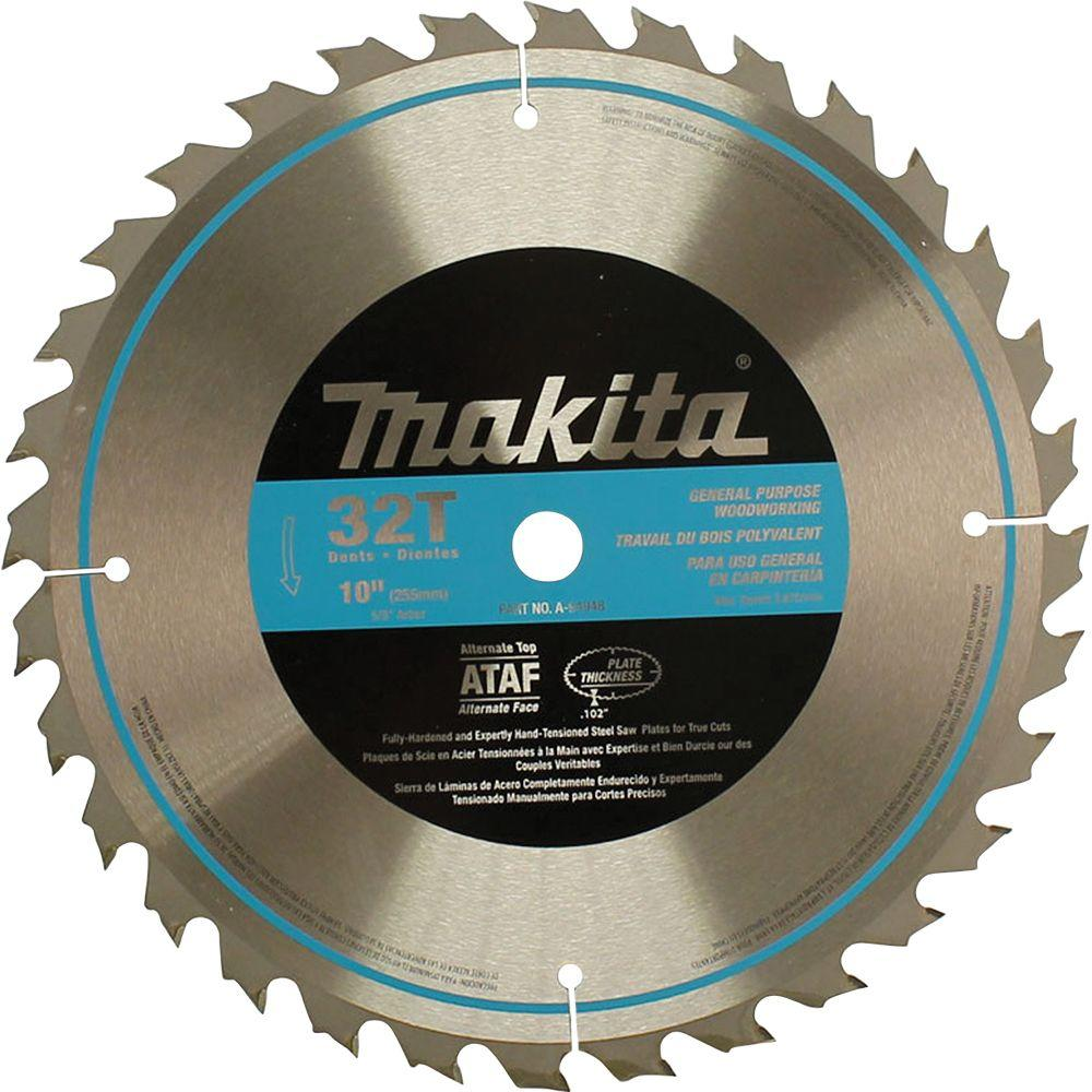 Makita 10 In 32 Teeth Carbide Tipped Table Saw Blade A 94948 The Home Depot Table Saw Blades Best Circular Saw Table Saw