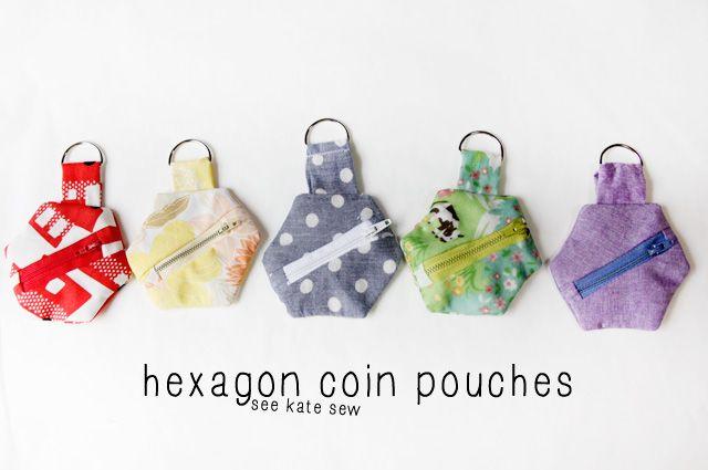 Hexagon coin pouch