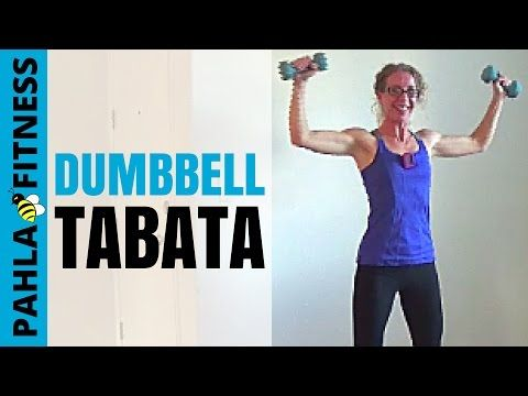 20 Minute DUMBBELL TABATA Workout | Cardio Toning at Home