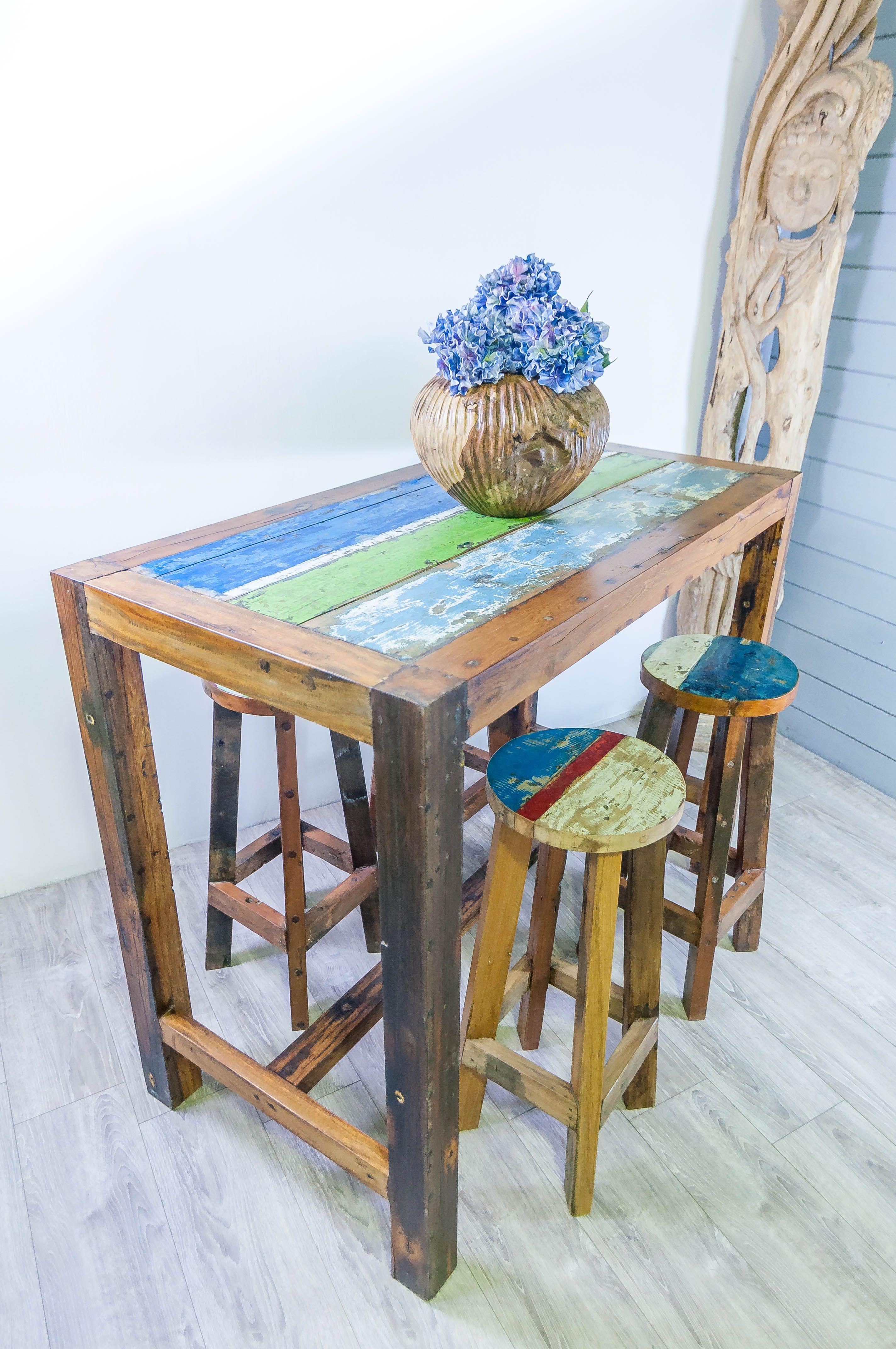 Gallery of meuble sjour table haute mangedebout en bois de pirogue with mange debout la foir fouille - Console en verre la foir fouille ...