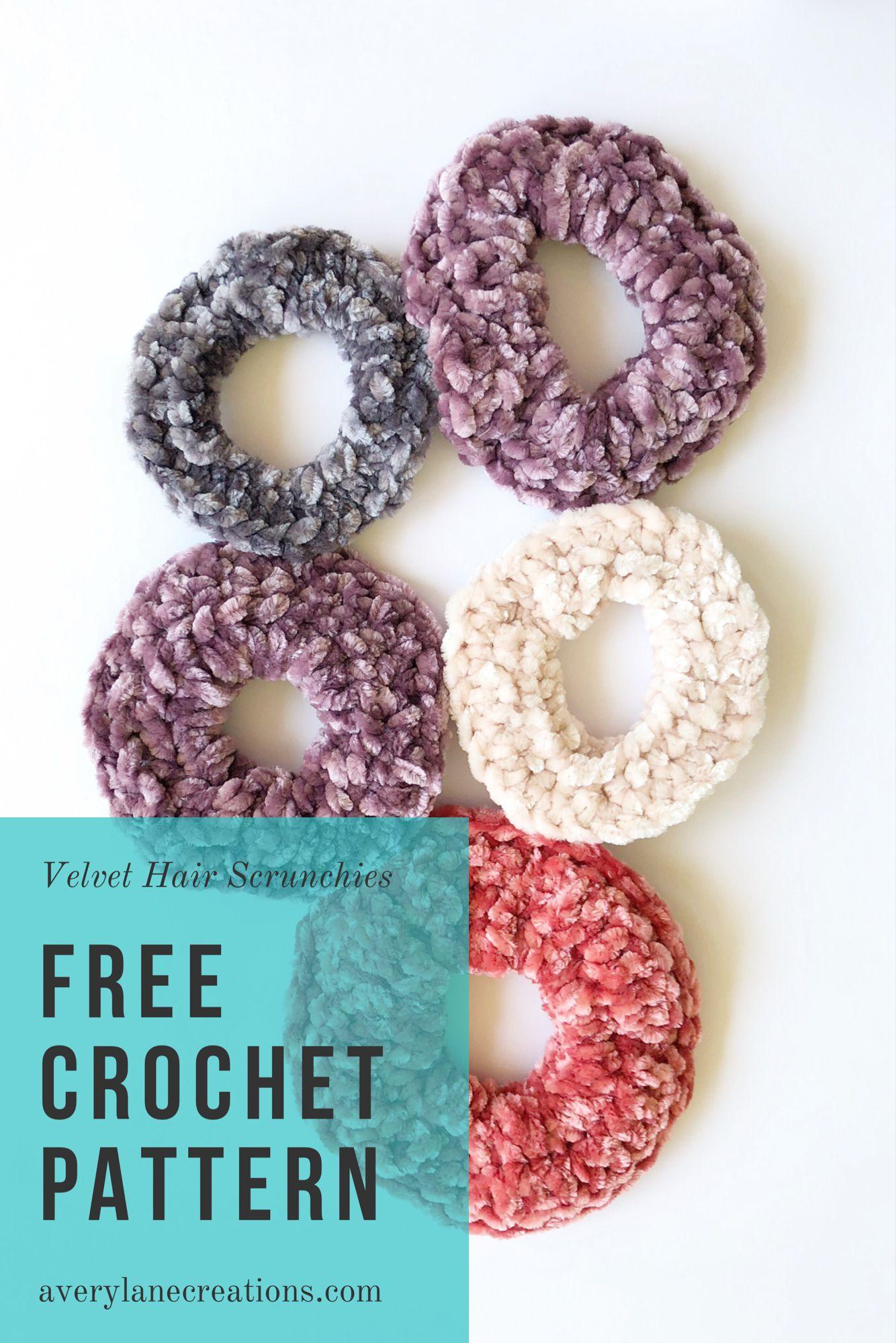 Free Crochet Pattern Velvet Hair Scrunchies