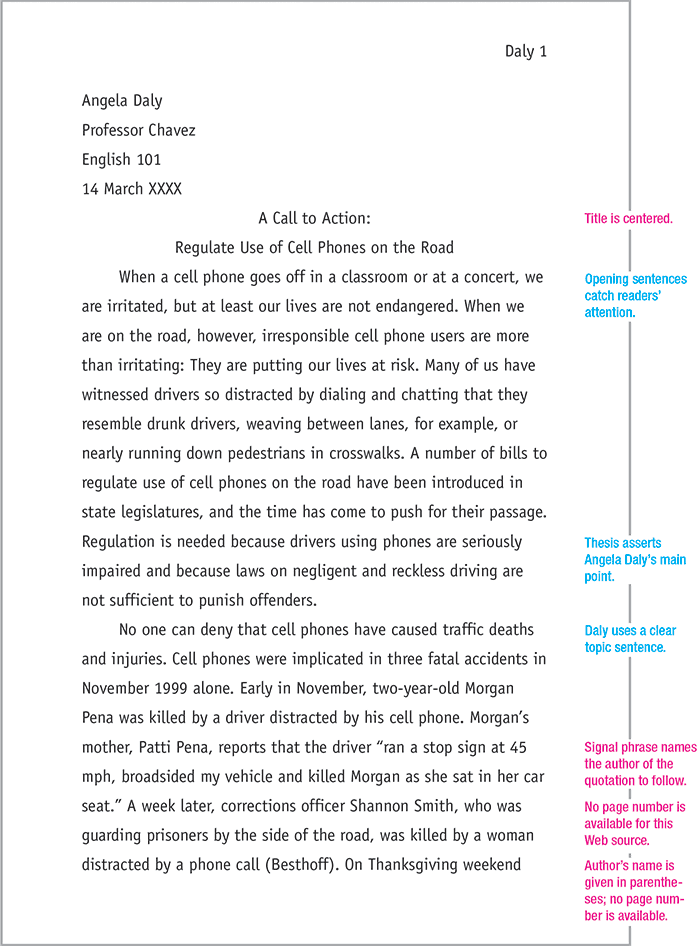 This Website Demonstrates How To Use MLA Format In Every Aspect Of A