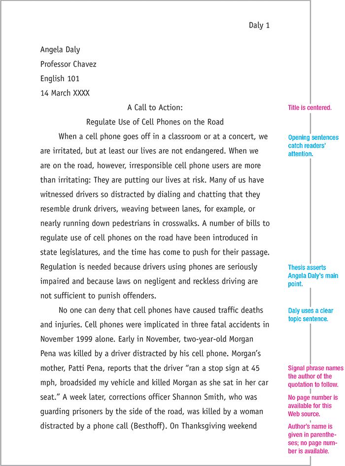 Mla Format Sample Paper 7th Edition Apa Essay Essay Format Apa Essay Format