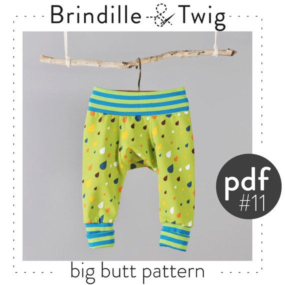 Baby nähen Muster großen Hintern Hosen, Pdf Downloadgrößen 0-3 M bis ...