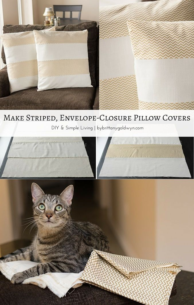 Learn how to make these striped envelope closure throw pillow