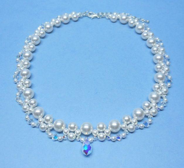 ae9f44e46f77 Joyas y bisutería de novia - collar nupcial de cristal swarovski ...