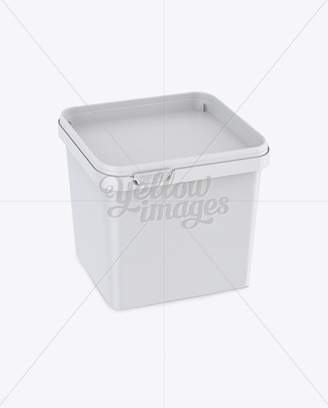 Download Square Plastic Container Mockup Yellowimages