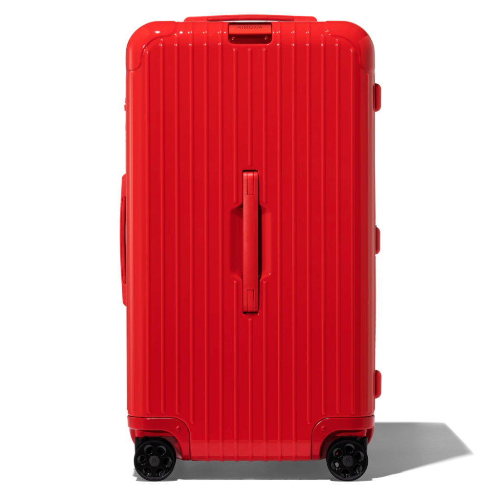 Essential Trunk Large Suitcase Red Rimowa Rimowa Large Suitcase Hard Shell Luggage