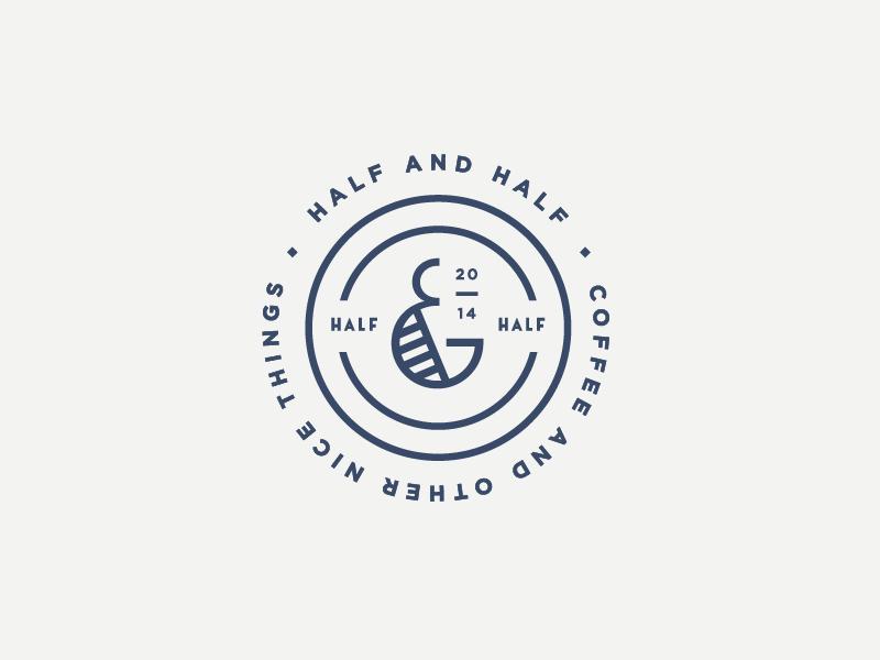 Half Half Branding Design Logo Logo Design Graphic Design Logo