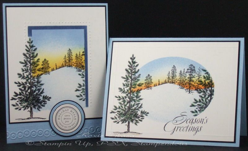 Greeting Card and Wrapping paper Inspired by Rox71 - Cards and Paper Crafts at Splitcoaststampers