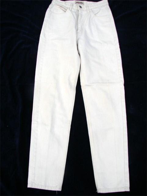 Vtg GUESS Off White Highwaist Jeans  style by smittystreasurechest, $24.95