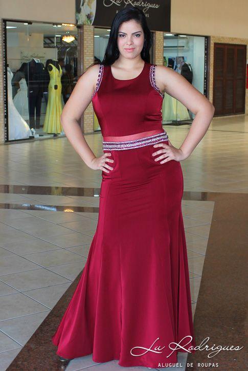 Vestido Madrinha Plus Size 96 Marsala Buty Pic Vestido