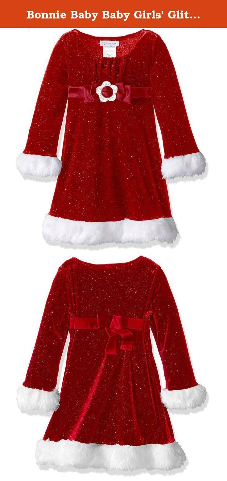 Bonnie baby baby girlsu glitter santa emma dress months this