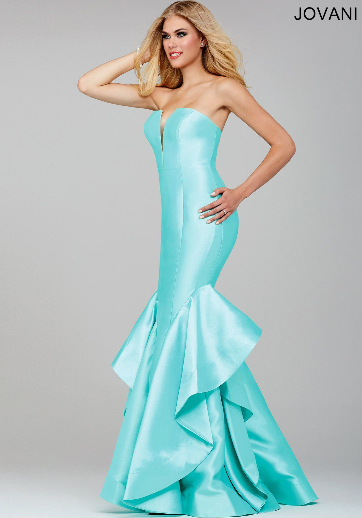 Mint Green Strapless Prom Dress 28900 | Cool stuff to buy ...