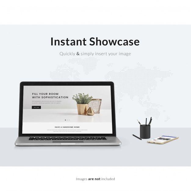 Download Laptop On White Table Mock Up For Free Mocking Mockup Graphics Design Ideas