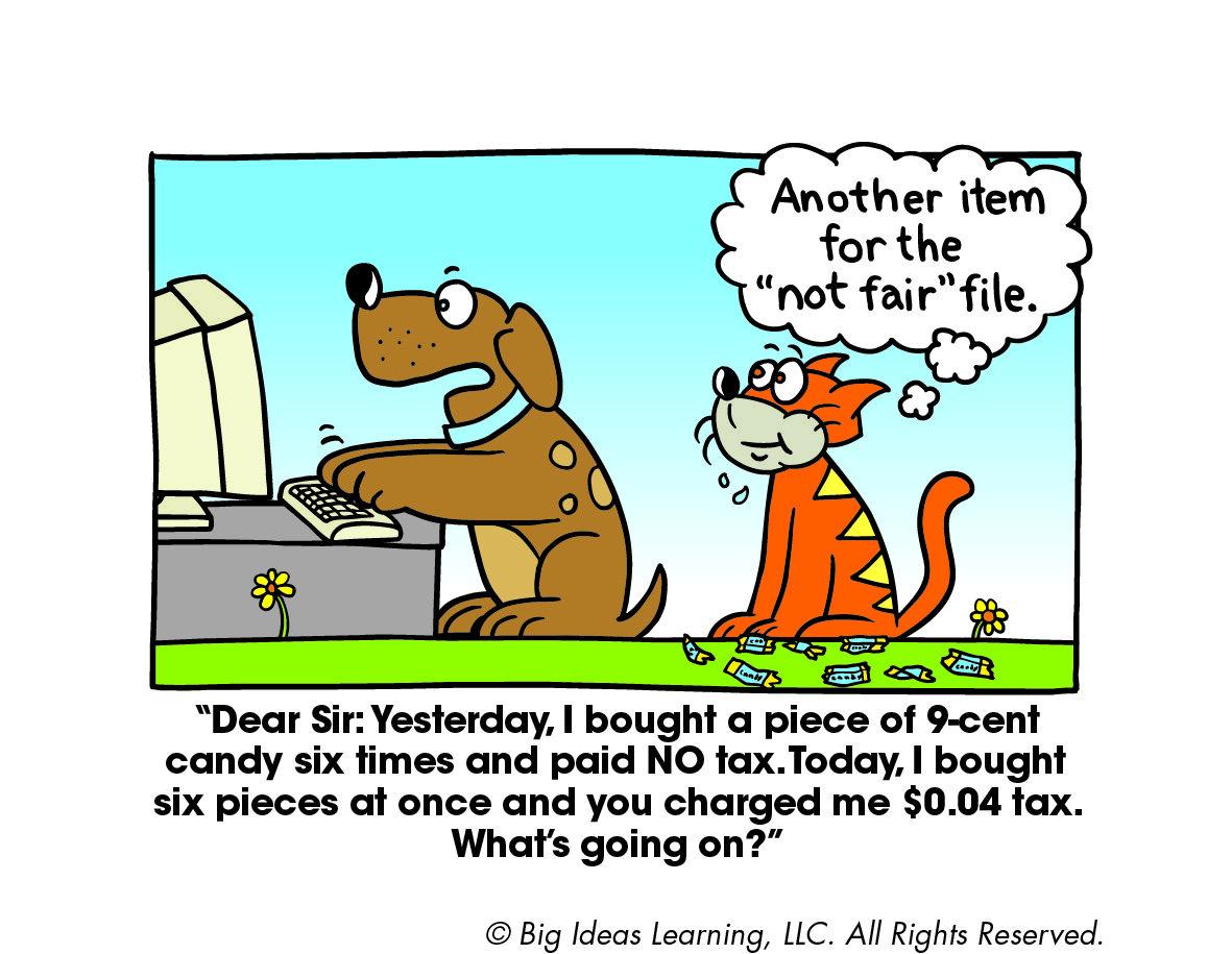 Percents Sales Tax Math Jokes Math Cartoons Funny Math Jokes