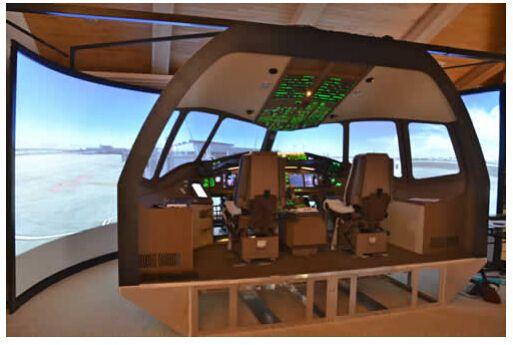 Projection Ecran Incurv Flight Simulator Cockpit Flight Simulator Cockpit