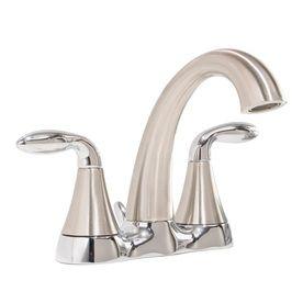 Aquasource Brushed Nickel 2 Handle Watersense Bathroom Sink Faucet