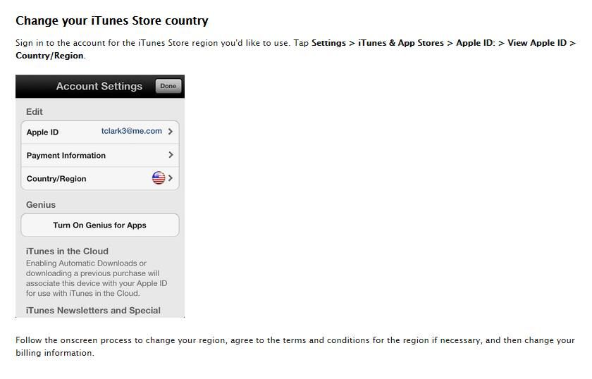 To Change your iTunes Store COUNTRY, Sign in to the