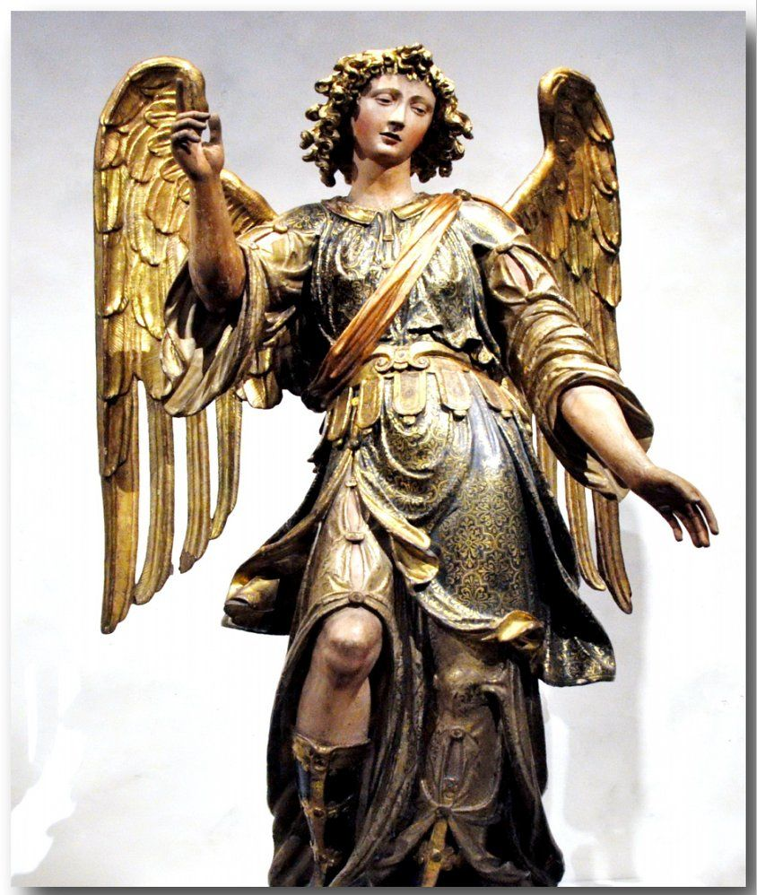 St Raphael Archangel Statue: 2. Скульптура. Middle Ages
