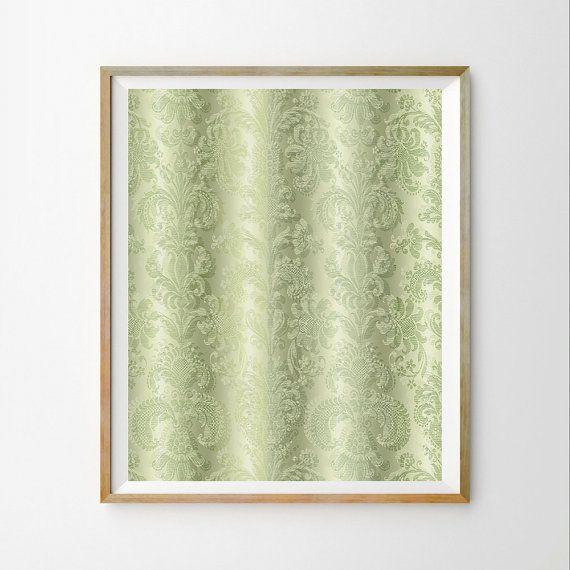 Green wall art print Green wall art décor Green download Mint wall ...