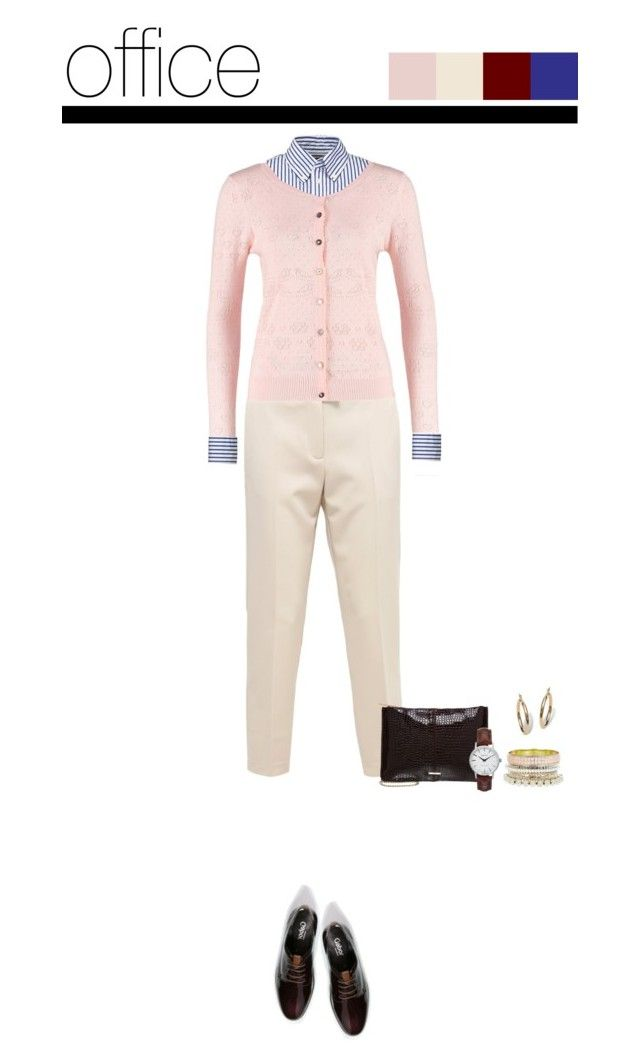 Office outfit: Rose - Beige - Burgundy by downtownblues on Polyvore #officewear